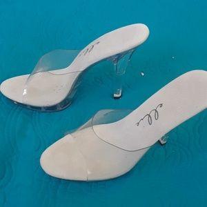 "Ellie 5"" Stiletto Clear Platform Shoe"